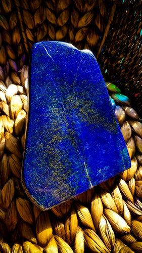 Lovely Lapis Lazuli and Pyrite Slab || Magic, Meditate, Abundance, Awareness