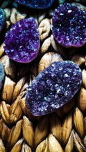 Sparkly Purple Amethyst Crystal Cluster Rounds