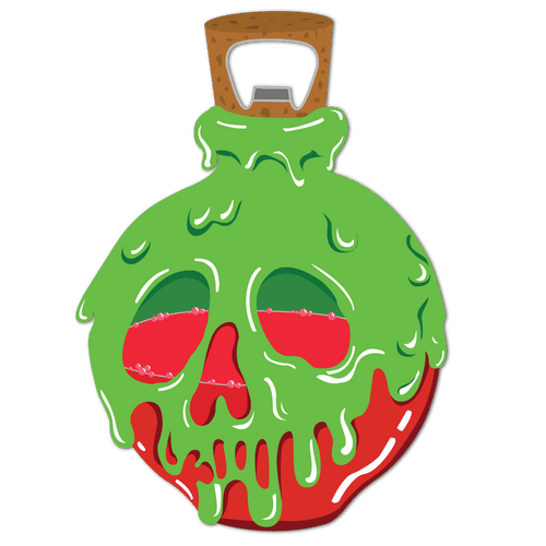 Poison Apple Bottle Opener *LAST CHANCE* - Attractioneering Trading Co.