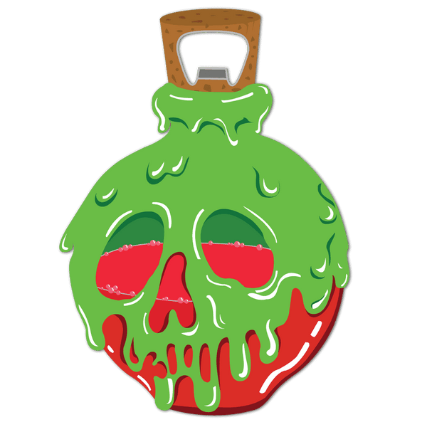 Poison Apple Bottle Opener *CLEARANCE* - Attractioneering Trading Co.