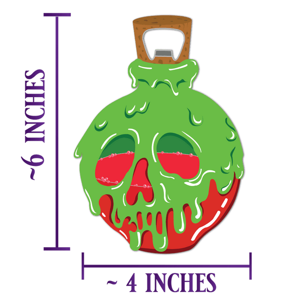 Poison Apple Bottle Opener - PREORDER - Attractioneering Trading Co.