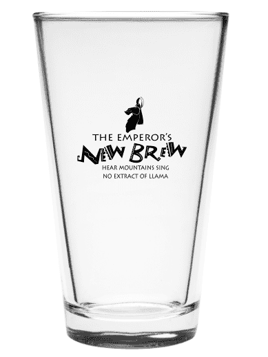 Emperor's New Brew 16oz Pint Glass - Attractioneering Trading Co.