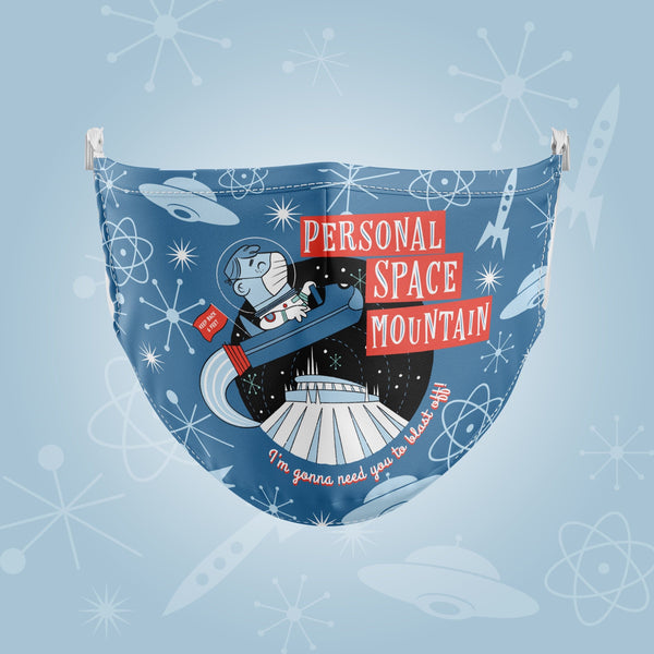 Personal Space Mountain Reusable Face Mask - JUNE PREORDER - Attractioneering Trading Co.