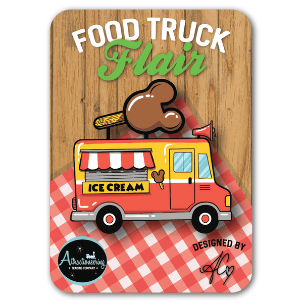 Premium Food Truck Flair Pin - Attractioneering Trading Co.
