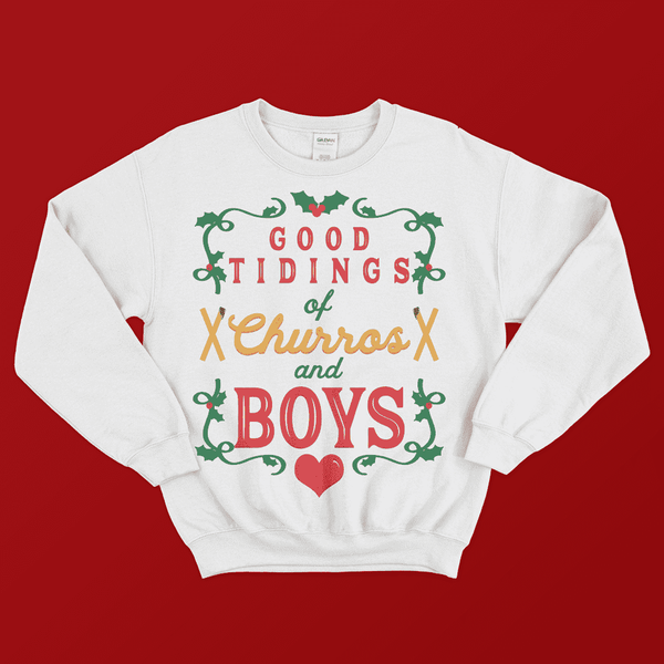 Churros and Boys Sweatshirt - Attractioneering Trading Co.