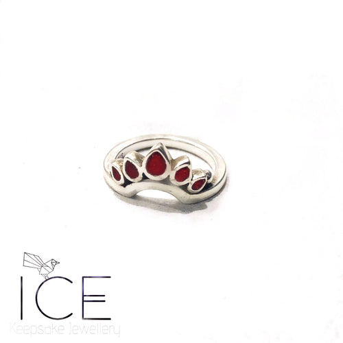 Azalea Lotus Ring - in Sterling Silver