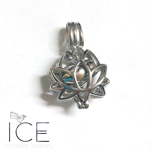 Stainless Steel Lotus Urn Pendant