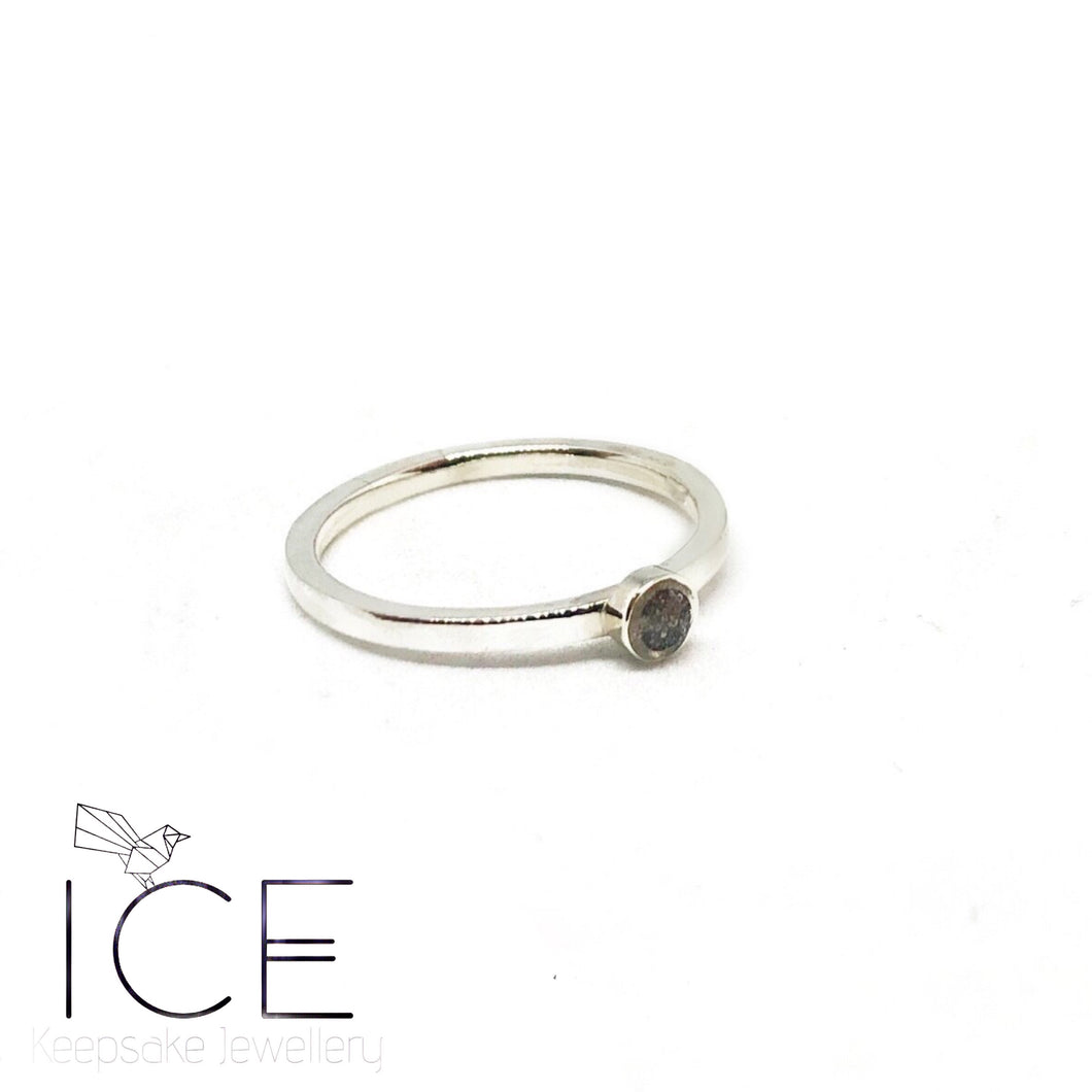 Stacking Ring - in 9ct White Gold