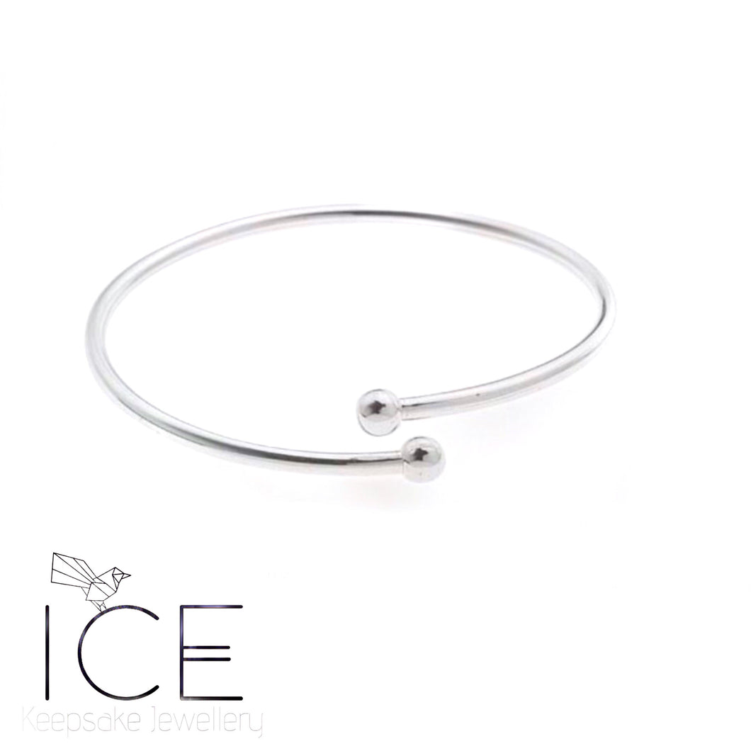 Charm Bangle - In Sterling Silver