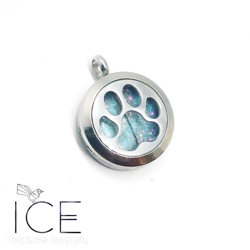 Paw Print Locket - In Stainless Steel
