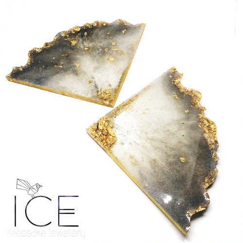 4 Piece Geode Coaster Set