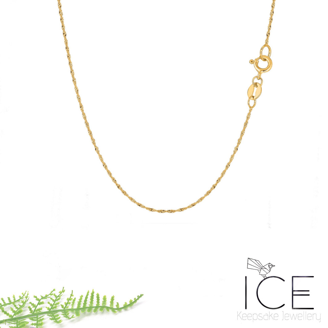 10ct Yellow Gold Necklace Chain