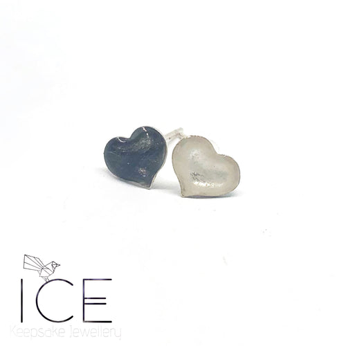 Heart Earrings - In Sterling Silver