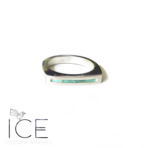 'Camryn' Channel Ring - In Sterling Silver