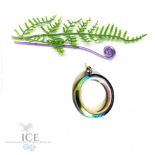 Rainbow Tempered Glass Locket - In Stainless Steel