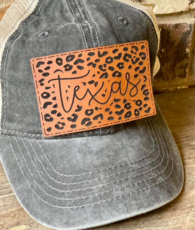 Stitched Leopard Texas Patch