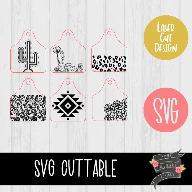 Cow Tag KeyChains [SVG]