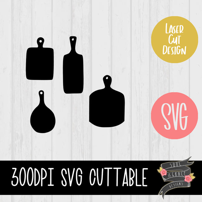 Rustic Cutting Board Templates [PNG & SVG]