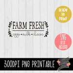 Farm Fresh Eggs Milk Cheese [PNG and SVG]