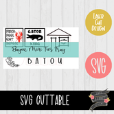 Bayou Mini Tier Tray Set [SVG]