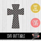 Quatrefoil Cross Bleach Template [SVG]