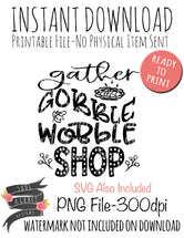 Gather Gobble Wobble Shop
