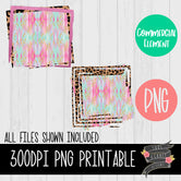 Leopard Pink Glitter Sublimation Backgrounds