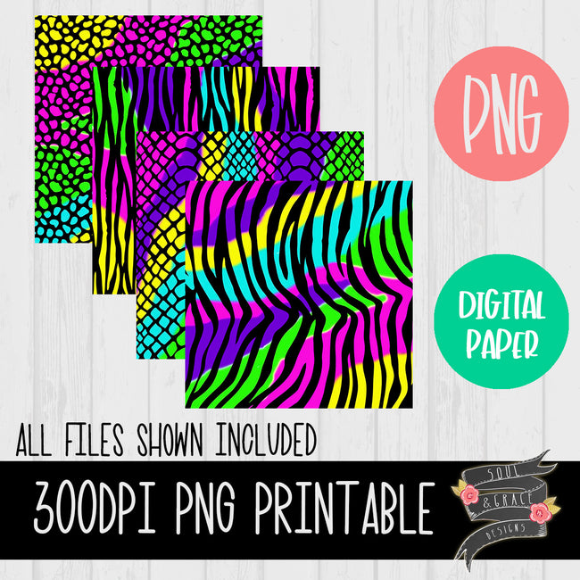 Neon Animal Print [Digital Paper]