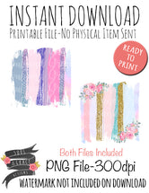 Pastel Floral Brush Strokes