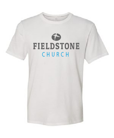 Fieldstone Church Cloud Soft Cotton Tee: Unisex and Ladies