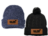 Saline Hornet Knit Beanie and Pom