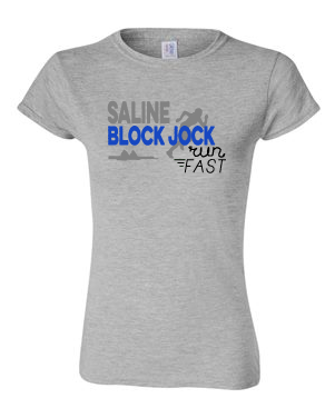 SHS T&F Block Jock Short Sleeve Tee Adult/Ladies
