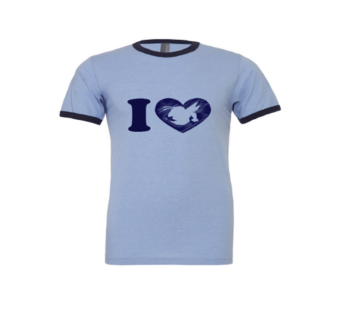 Hornet Love Ringer Tee: old school style!