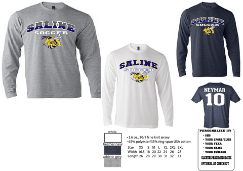 Unisex Long Sleeve T-shirt Saline Soccer