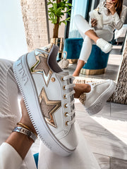 Sneakers Stars White Gold