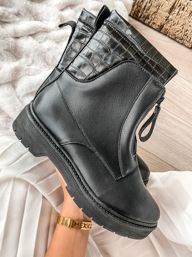 Zipper Boots Black