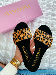 Aloha Sandals Cheetah Gold Fur