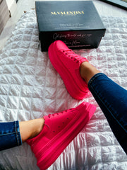 New York color rosa neon