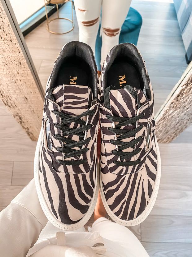 New York Sneakers Zebra