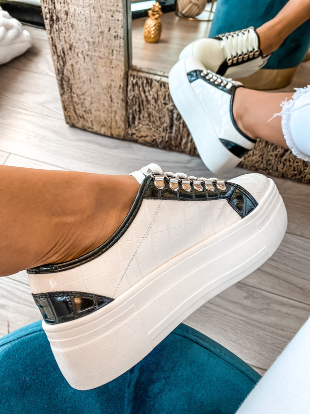 Sneakers Willow White & Black Coco