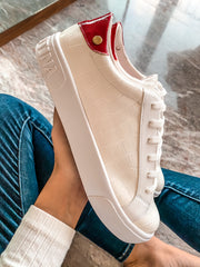 Queen Sneakers White Coco & Red