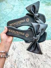 Katherine Sandals Bow Black