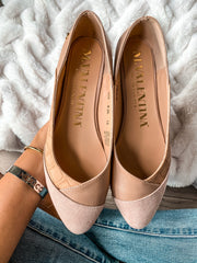 Dasha Flats Nude & Point Pink Swede