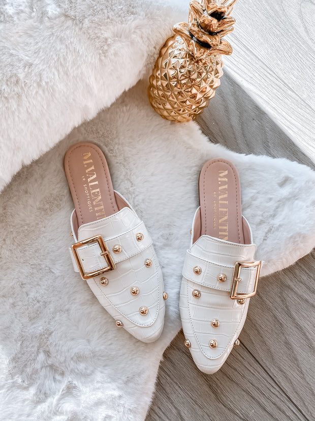 Mules Piper White Coco & Bumps