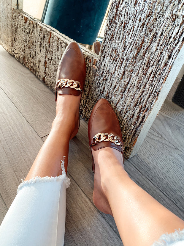 Mules Bali Chain Brown Spain