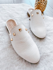 Mules Emily Coco White & Studs
