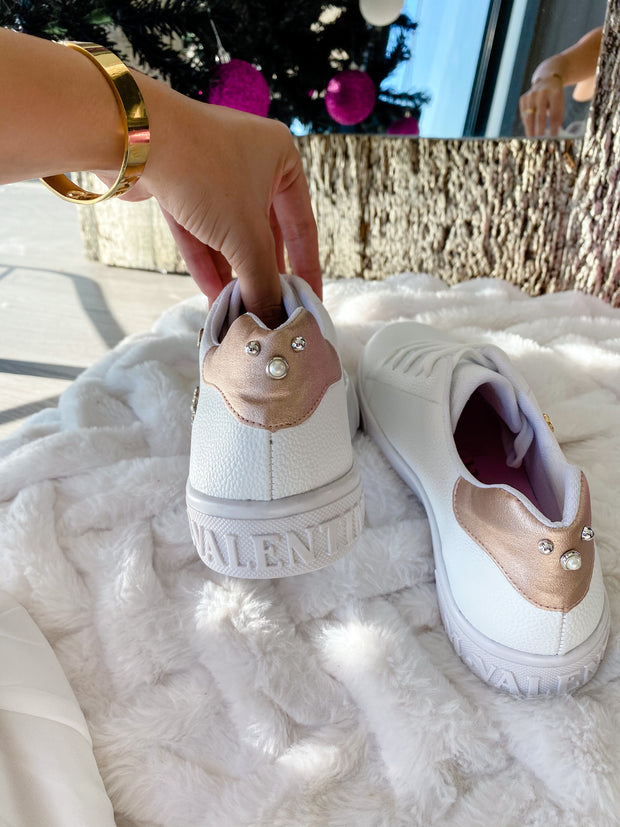 Sneakers Cardy Suns White & Heel Rose
