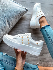 Sneakers Chicago White Full Coco Stripe and Studs