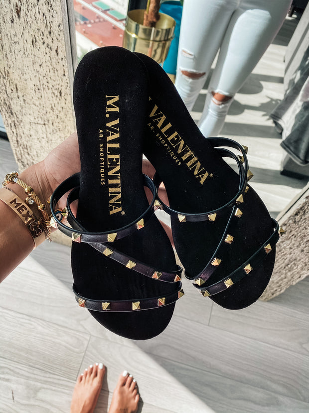 Sandals Dakar Black Gold New
