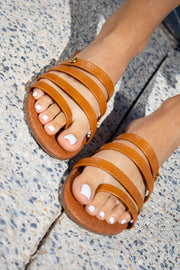 Mona Sandals Brown Snake